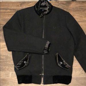Fred Perry Wool Bomber Harrington Jacket